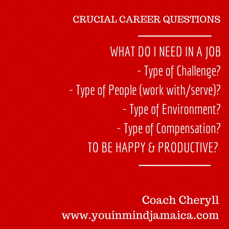 Crucial Career Questions