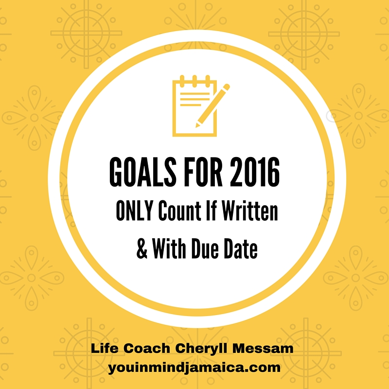 1 Goals For 2016