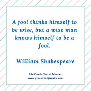 Fool vs Wiseman